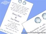 plava morska pozivnica u boci tisak teksta