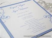 Pozivnica za vjenčanje Blue Line Plus