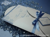 Wedding invitatin - Blue Winter Beauty