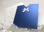 Pozivnica za vjenčanje plava -Blue Charm Dots