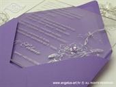 Pozivnica za vjenčanje Plexy pozivnica - lila