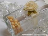 poruka u boci pozivnica bež ruža