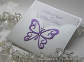 Pozivnica za vjenčanje - Violet Butterfly Charm