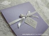 Pozivnica za vjenčanje Purple & White Classic