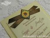 Pozivnica za vjenčanje Simplicity Sunflower