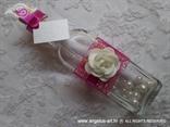 pozivnica poruka u boci fuksija bijela s perlicama