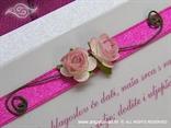 pozivnica roza za vjenčanje s ružama