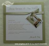 pozivnica s fotografijom za vjenčanje