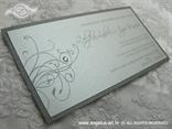pozivnica srebrna moderna s kuvertom i cirkonom