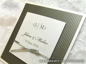 Pozivnica za vjenčanje Trendy Silver stripe