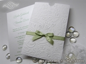 Wedding invitatio - White and Green Charm
