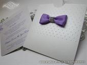 Pozivnica za vjenčanje - Purple Bow Charm
