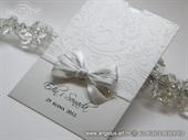 Pozivnica za vjenčanje - White and Silver Charm