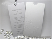 Wedding invitation -  Charm White and Silver
