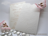 Wedding invitation - Charm Cream Heart