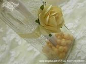 Pozivnica za vjenčanje Poruka u boci - Krem ruža