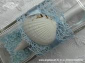 Pozivnica za vjenčanje Poruka u boci - Plava školjka