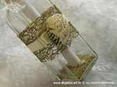Pozivnica za vjenčanje Poruka u boci - Natur školjka