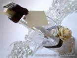 pozivnica u boci za vjenčanje krem smeđa