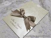 Pozivnica za vjenčanje Antique Gold Charm
