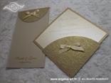 pozivnica u obliku dijamanta zlatna komplet sa zahvalnicom