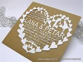 Pozivnica za vjenčanje LASER SRCE