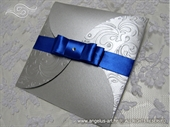 Wedding invitation - Blue & Silver Beauty