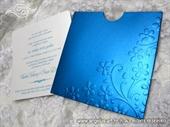 Pozivnica za vjenčanje - Turquoise Flower Charm