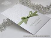 Pozivnica za vjenčanje Green Bow Charm