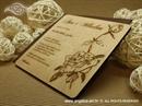 Pozivnica za vjenčanje Drvena pozivnica Ruža
