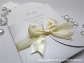 Wedding invitation - Cream Butterfly Beauty