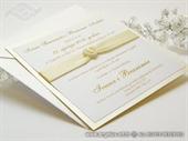 Wedding invitation - Lovela Cream Heart
