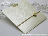 Pozivnica za vjenčanje Cream Rose Charm