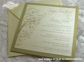 Pozivnica za vjenčanje Simple Gold Line