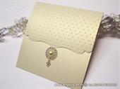 Pozivnica za vjencanje - BEIGE & GOLD CLASSIC Broche