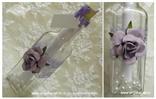 pozivnica za vjenčanje lila ruža i perlice u boci