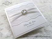 Wedding invitation - Stylish White Lace