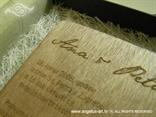 pozivnica za vjenčanje s gravurom u kutiji