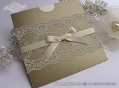 Wedding invitation - Gold Charm Lace