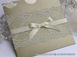pozivnica za vjencanje sa cipkom zlatna
