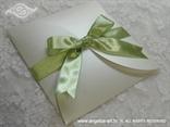 pozivnica za vjenčanje sa zelenom trakom i u omotnici