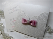 Pozivnica za vjenčanje - Pink Shine Charm