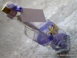 pozivnica za vjenčanje u boci s ljubičastim morskim detaljima