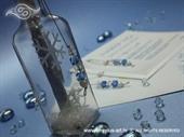 Pozivnica za vjenčanje Poruka u boci - Snježna bajka