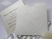 Pozivnica za vjenčanje - White Heart Charm
