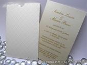 Pozivnica za vjenčanje - Beige Charm