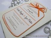Pozivnica za vjenčanje - Orange Bottle