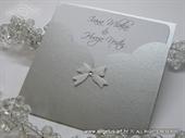 Pozivnica za vjenčanje - Silver&White Charm