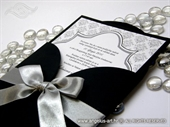 Wedding invitation - Black Damask Beauty
