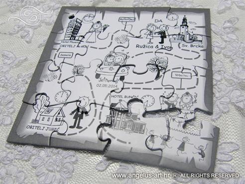 Pozivnice Puzzle 15x15cm